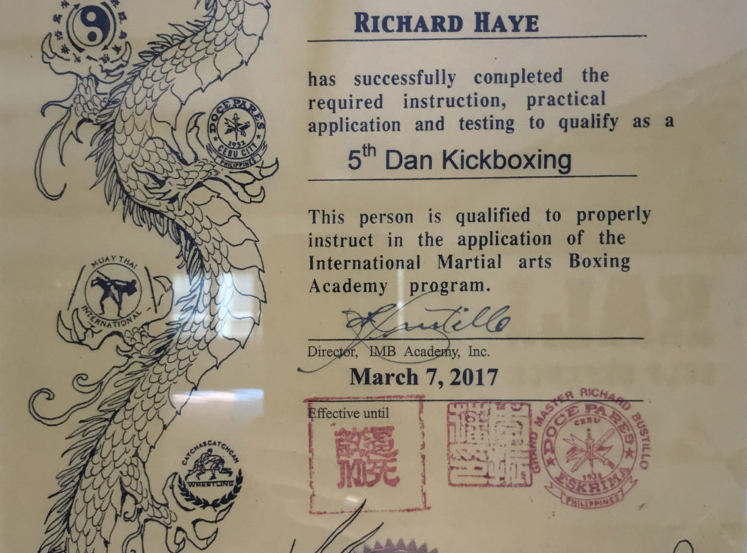 Kickboxing diploma IMB