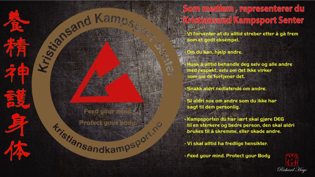 Kampsport etikette på Kristiansand Kampsport Senter